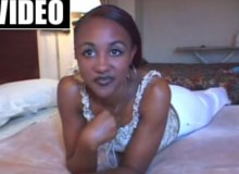 Black cutie does her first fuck video